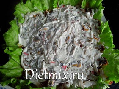 Морской салат с пастой «Rainbow» , пошаговый рецепт с фото