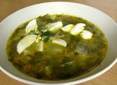 Щавелевый суп. Весенний суп из листьев щавеля и редиса